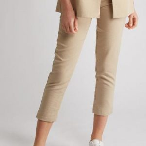 Pantalon Tailleur Sable Femme Printemps
