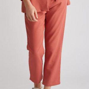Pantalon Tailleur Corail Femme Printemps
