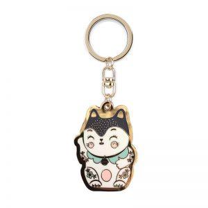 Porte-clés Chat Maneki neko