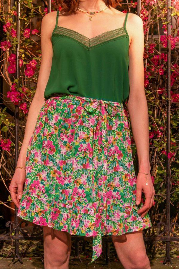 jupe-sorbier-imprime-fleurs LA PETITE ETOILE