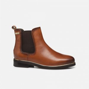 Micky camel Boots chelsea en cuir