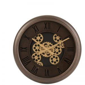 horloge engrenage marron or