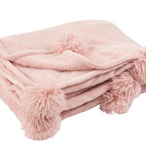 Plaid Pompon Polyester Rose Bebe