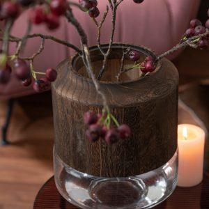 vase bois et verre jolipa