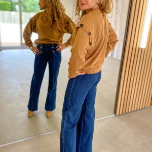 Sweat Hilda camel - vero moda