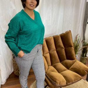 Pantalon droit à carreaux - vero moda