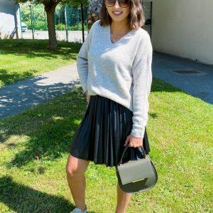 Jupe NellieDora plissée courte noire - vero moda - 10253299