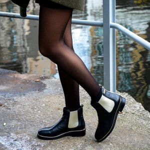 boots micky noir et or